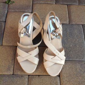 Women's tan wedges